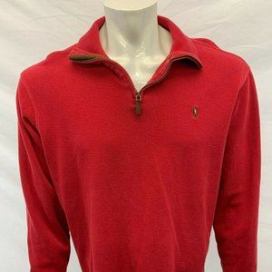 Polo Ralph Lauren Estate Rib Mock 1/4 Zip Men's L